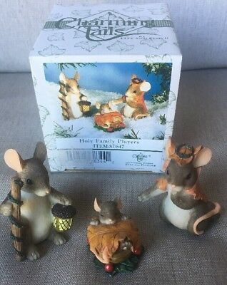 Fitz & Floyd Charming Tails Holy Family Players Nativity Joseph Mary Jesus Mice