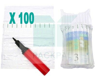Air column inflatable packaging bag X 100 for baby formula + FREE Hand Pump