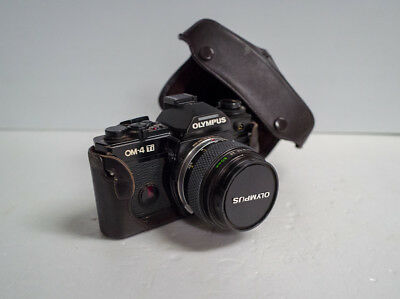 Olympus OM-4Ti 35mm camera with 50mm 3.5 macro lens