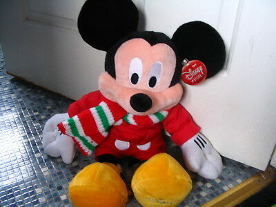 Disney Store Mickey Mouse Winter Scarf Plush Toy Brand New