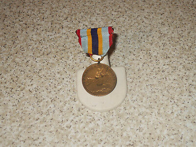 WWI State of New York # 4414 Service Award Medal Ribbon Pin 1917 1918 1919