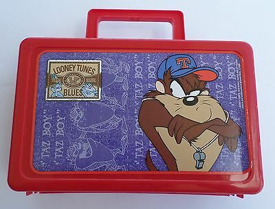 Looney Tunes Tazmanian Devil Plastic Lunch Box, Warner Bros 1996