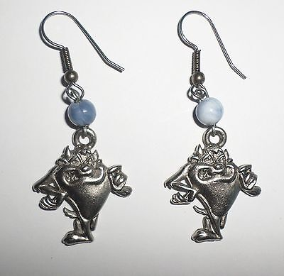 EARRINGS Taz Tazmanian Devil WARNER BROS LOONEY TUNES Pewter by Starline