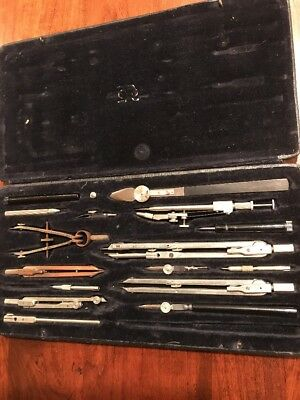Antique German E.O. Richter & Co. PRACISION DRAFTING SET W. Box Engineering