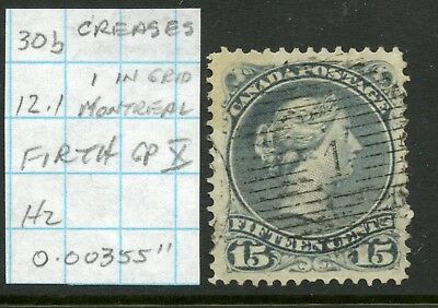 "Weeda Canada 30b Used 15c LQ, Firth GP X, perf 12.1, 0.00355"", '1' grid cancel"