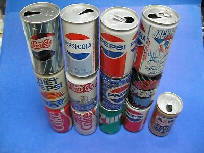 Vintage Soda Can Collection. Some tin, Jackson's Autograph, Navy Pier - 13 Cans