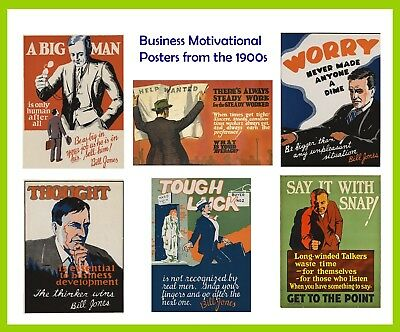 Motivational Posters- Vintage business inspirational images from the 1930s