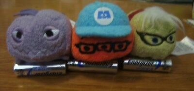 US Disney Store Mini Plush Tsum Tsum Monsters Inc. Lot of 3 US New with Tags!