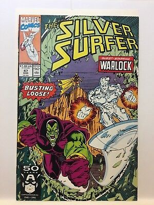 SILVER SURFER #47 (March 1991) Thanos Marvel Comics VF/NM