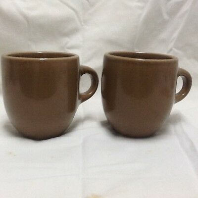 mid-century Russel Wright Casual China, pair of Mugs in Nutmeg.