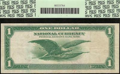 LARGE 1918 $1 DOLLAR GREEN EAGLE FR BANK NOTE BIG PAPER MONEY Fr 715 PCGS 30 PPQ