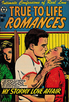TRUE TO LIFE ROMANCES #21 1954 F-VF cond. LB COLE cover & Story by Jay Disbrow!!
