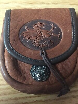 Norse/ Viking Dragon Leather Belt Pouch NWOT