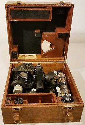 Vintage U.S.Army Air Corps - Sextant - Type A-10, F-125, In Wood Box - UN-Tested