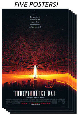 Independence Day ID4 Original Promotional Movie Posters - Lot of 6