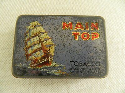 OLD   MAIN  TOP  2oz  TOBACCO TIN