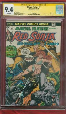 Marvel Feature 1 CGC SS 9.4 Stan Lee Sign 1st Red Sonja Book John Romita cover