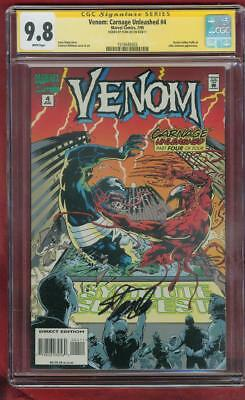 Venom Carnage Unleashed 4 CGC SS 9.8 Stan Lee Sign Top 1 Cover Spider Man Movie