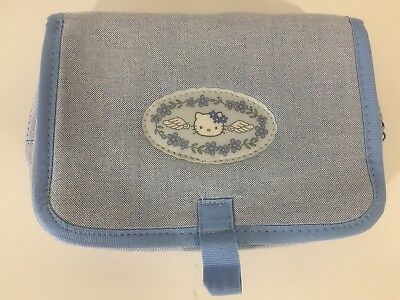 Hello Kitty Blue Makeup Bag with Mirror