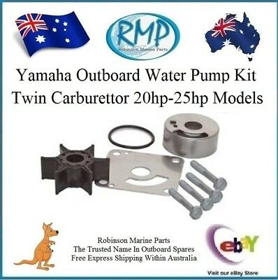 A New Yamaha Outboard Water Pump Kit Twin Carbie 20hp-25hp # R 6L2-W0078-00