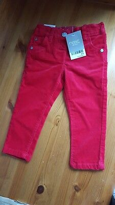 Next red cord trousers 9-12 months