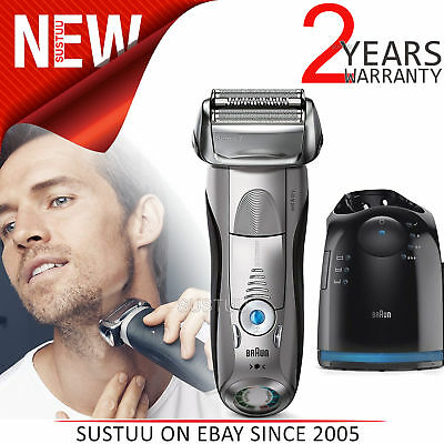 Braun Series 7 7898cc Men's Electric Foil Shaver│Wet/Dry + Clean│Charge Station│