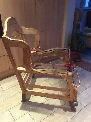 Antique Chair frame For Re Upholstery