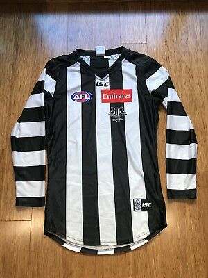 Collingwood Magpies 2017 Mason Cox Player Issue Jumper Guernsey Long