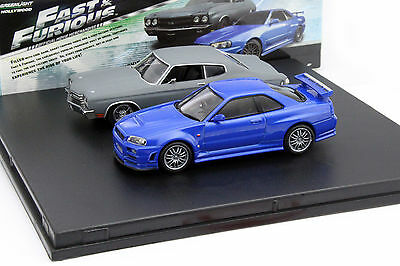 2-Car Set Chevrolet Chevelle SS und Nissan Skyline GT-R Fast and Furious 1:43 Gr