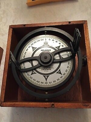 Vintage PELORUS Marine Compass  Kelvin & Wilfrid O White Co. Boston and New York