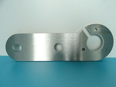 STAINLESS STEEL 4mm SINGLE TOW BAR 13 PIN SOCKET MOUNTING PLATE For FIAT