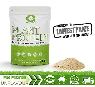 3Kg Pure Pea Protein Isolate - Unflavoured -French Pea  Protein Powder 3X1Kg