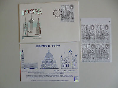 GB.9/4/1980. LONDON INTERNL.STAMP EXHIBITION STUART FIRST DAYCOVER, 4-50p STAMP