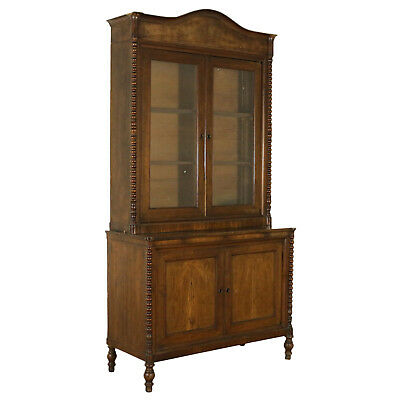 Antique Bookcase Walnut Manufactured in Italy First Half of the 19th Century