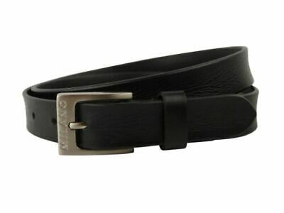 "New Quality MENS Black REAL LEATHER BELT 1"" Wide by MILANO All Sizes up to 48"