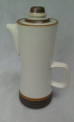 Denby Large 3 pint Coffee Pot in Potters Wheel Design with Tan Center - B2