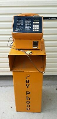 Vintage Retro Gold Telstra Payphone Pay Phone on Stand