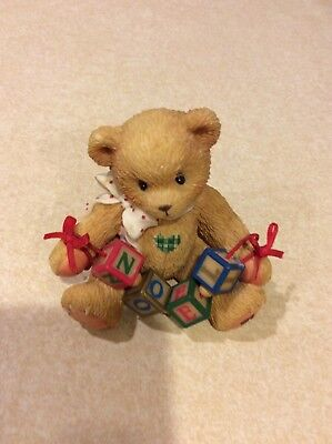NEW Cherished Teddies Noel #176109 - An Old Fashioned Noel To You Teddy Bear