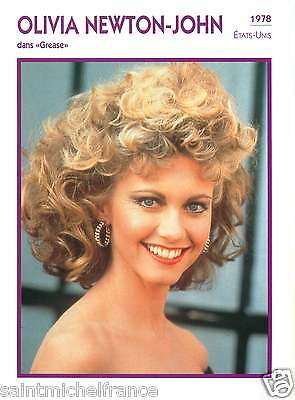 OLIVIA NEWTON-JOHN ACTRICE ACTRESS FICHE CINEMA USA 90s
