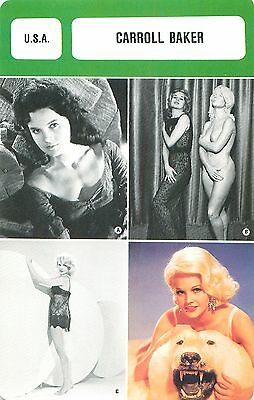 Carroll Baker USA  ACTRESS ACTRICE FICHE CINEMA