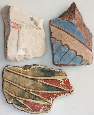 Three limestone, pottery and mummy fragments; possibly ancient Egyptian