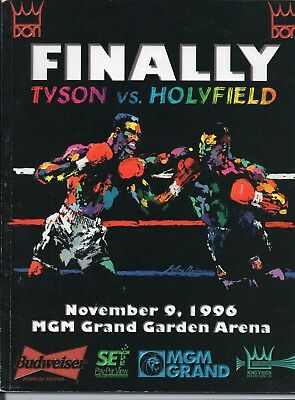 Mike Tyson-Evander Holyfield 1st fight 1996 FREE POST IN UK