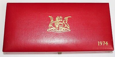 Südafrika Mint Proof Sets 1974 - 7 Coin Sets ** Red Case