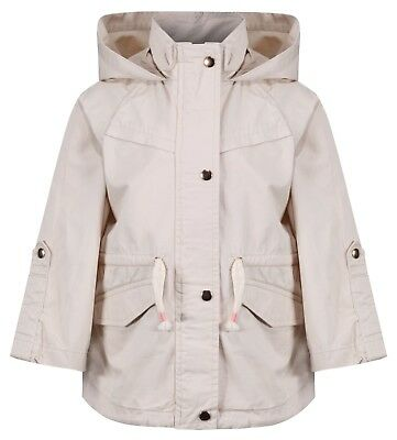 EX ZARA's Girls Baby Toddler Cream Jacket Coat Newborn to 4 Years RRP £26