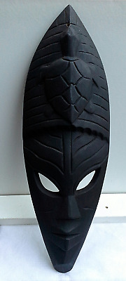 WOODEN MASK - Hand Carved #15