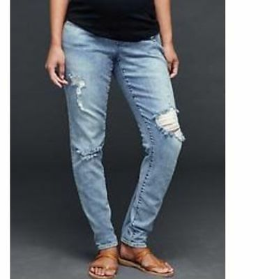 Gap Maternity Full Panel Distressed Jeans Size 2 (26) 167917