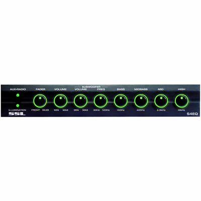Soundstorm SSL S4EQ 4 Band Pre Amp Graphic Car Audio Stereo Equalizer w/ Subs EQ