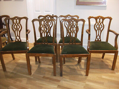 236 - Six Chippendale Style Mahogany Dining Chairs