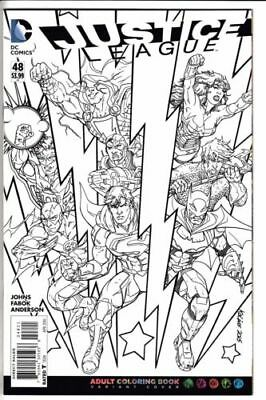 Dc New 52 Justice League #48 Coloring Book Variant First Print