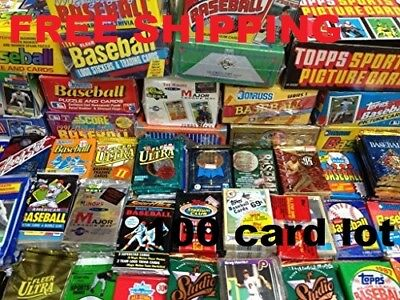 100 Old Baseball Cards in Unopened Packs from Huge Vintage Collection Lot